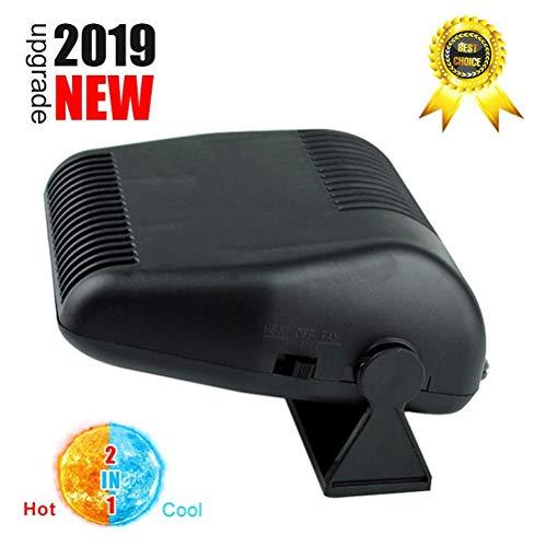 Pixier 12V-autoventilator, draagbare raamontvochtiger, autoverwarming en koelventilator, 2-in-1, voorruit, ontdooien met snelle verhitting, insteken in sigarettenaansteker