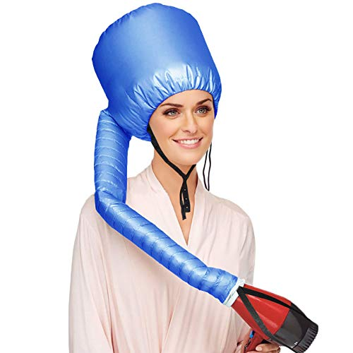 Beautyours Safety Portable Hair Dryer Bonnet Attachment for Hair Styling - Blue