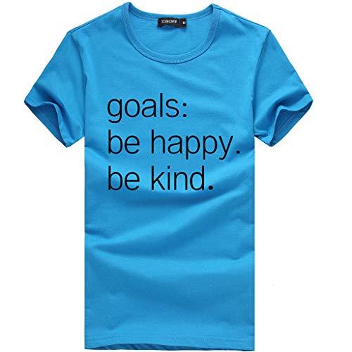 Tosonse Camiseta para Mujer Imprimir Tops Blusa Tanques De Cuello Redondo Inicio Camisas De Manga Corta Camiseta Túnica Vintage
