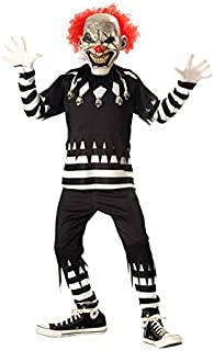 Creepy Clown Boy's Costume, Medium Multicoloured