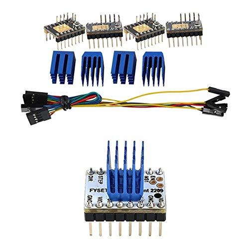 ZRNG 4Pcs Tmc2130 V3.0 Stepper Motor Stepstick Mute Silent Driver & 2Pcs Tmc2209 Stepping Motor Driver 3D Printer Parts