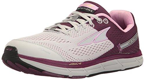 ALTRA Women's Intuition 4 Running Shoe, Gray/Purple, 6 M US