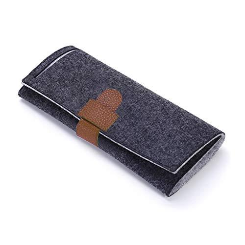 Buwei Faguo portátil Enrollable de Fieltro para joyería, Bolsa de Almacenamiento en Rollo, Pendientes de Viaje Plegables, Collares, Pulseras, contenedor de Anillos