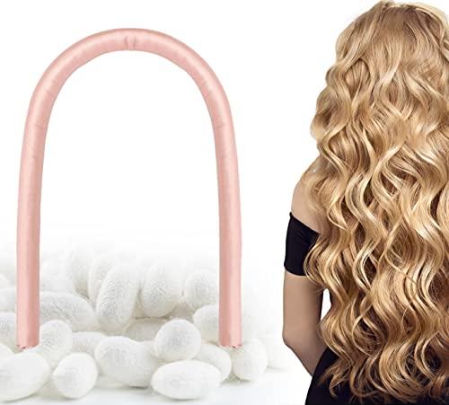 FANTASTIC HOUSE Heatless Hair Curlers 100% Mulberry Silk Hair Curlers for Long/Medium Hair, Soft No Heat Curlers Rollers Sleeping Waves Sleep Styler Heatless Curls