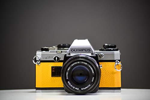 Olympus OM10 35mm Film Camera Yellow Leather Skin | Fully Serviced
