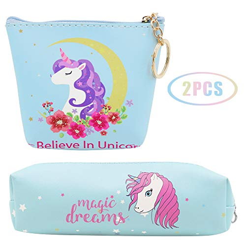 JUSTIDEA 1 monedero Unicornio Magic de 1 unicornio estuche de lápices para...