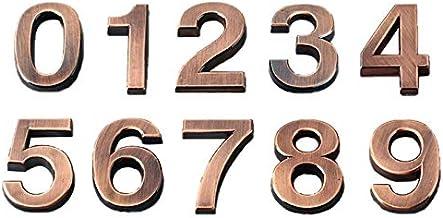 Dasing 3D-cijfers deur plaque huis lade bord poort cijfers 0 tot 9 ABS nummerplaat hotel huis sticker adres deur etiket brons