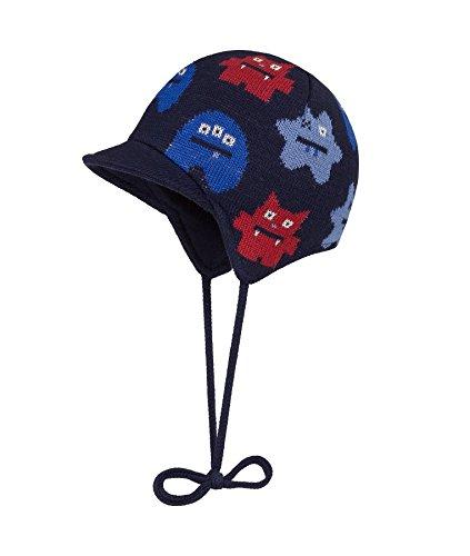 Döll Jungen Inka Bindemütze mit Schirm Strick Mütze, Blau (Navy Blazer 3105), 47