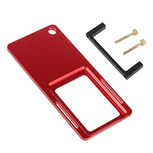 BGNing Adaptador de placa de interruptor de cardán de aluminio para trípode compatible con GOPRO Hero 8/EKEN/DJI OSMO Estabilizador de acción (con clip de plástico)