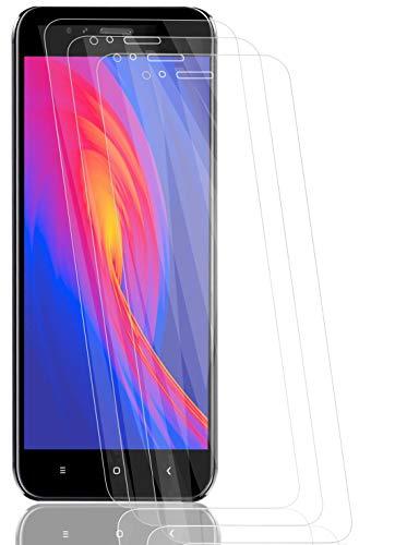 RSSYTZ [3 Pack Protector de Pantalla para Xiaomi Mi A1, [9H Dureza] [Resistente a Arañazos] [Admite la función de Huella Digital] Vidrio Templado Screen Protector para Xiaomi Mi A1