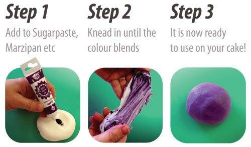 Rainbow Dust Pro-Gel Food Colouring - Burgundy
