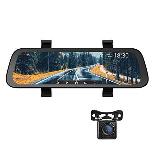 JSX 10-Zoll-Full Screen Rearview-Schlag-Nocken Weit 1080P Auto Cam 130FOV Spiegel-Auto-Recorder Stream-Media-Auto-DVR