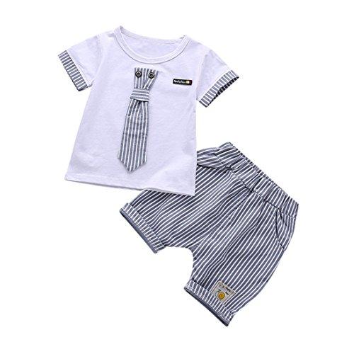 Sport Pantalon 2 Set Walaka Gar/çOn /ÉT/é T-Shirt Ensembles,Vetements Shorts Et Haut Bebe Gar/çOn T-Shirt 0-4 Ans Dessin Anim/é De Dinosaure Tops