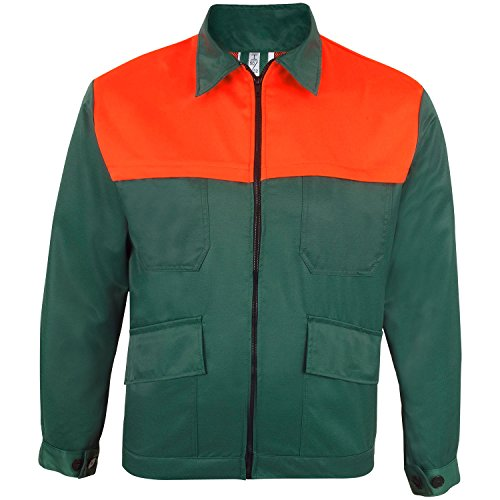 Prevent Waldarbeiter-Jacke FJS, grün/leuchtorange, Gr. L