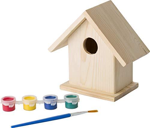 eBuyGB Malen Sie Ihr eigenes Vogelhaus für Kinder Bastelset Garten Nistkasten Ostern Natur