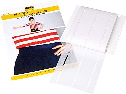 Vlieseline Bundfix SB, 60% PES, 40% Cellulose, Weiß, 10-25-25-10mm x 3m