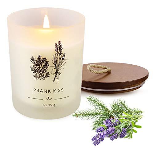 Duftkerzen Geschenkset, 9 Oz SojaWachs-Kerze Lavendel Aromatherapie, Bad, Yoga, für Damen Geburtstag, Weihnachten, Muttertag