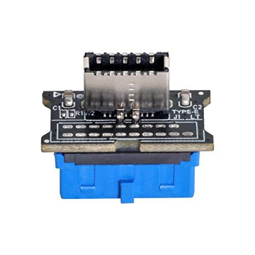 Xiwai Vertical USB 3.1 Panel frontal Socket Key-A Tipo-E a USB 3.0 20Pin Encabezado Adaptador de Extensión Macho para Placa Base