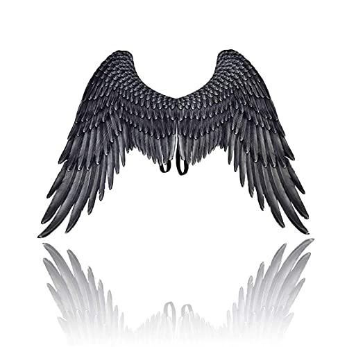 Disfraz De Halloween Accesorio Cosplay ala A Mistress Mistress Evil Angel Alas Disfraces De Halloween Precios Decoración para Niñas Niños (Color : Black)