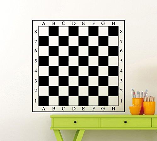 Vinilo adhesivo para pared, diseño de tablero de ajedrez (128ex)