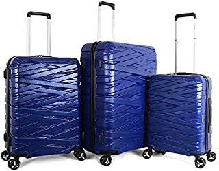 TITAN Hard Case Luggage - 4 Wheel with 5 Pieces , Blue