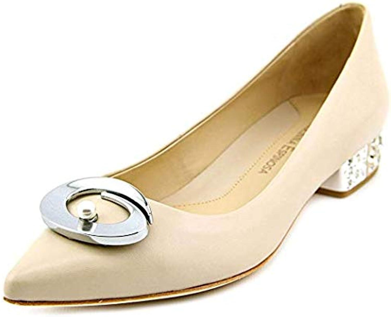 Carolinna Espinosa Carnation Pointed-Toe Flats Size 9M Beige