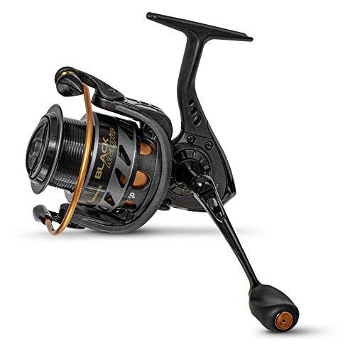 Browning Black Magic MSF 330 Carrete Pesca con Cebo básico con manivela de Acero Inoxidable CNC, Fuerza de frenado de hasta 10 kg y 3 rodamientos de Bolas, Color Negro y Naranja
