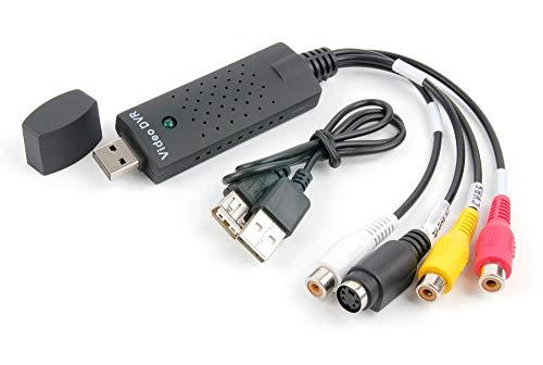 DURAGADGET Convertidor USB 2.0 de vídeo analógico a Digital + Adaptador y Cables RCA. Capture el vídeo de su DVD, VHS o Formato analógico y conviértalo a Formato Digital en su Ordenador.