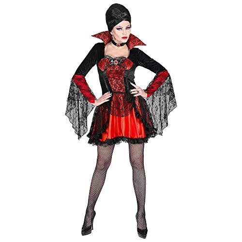 WIDMANN Disfraz de vampiresa de mujer, mujer, color negro/rojo