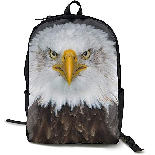 Daypacks,Casual Large College School Daypack - Laptop Outdoor Rucksack Für Weißkopfseeadler Nordamerika Vogel Rucksack