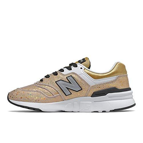 New Balance Women's 997H V1 Sneaker, Gold, 8.5