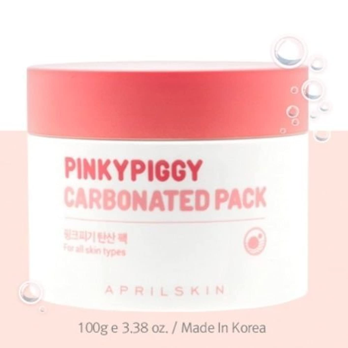怒り自発百年April Skin Pinky Piggy Carbonated Pack 100g(3.38oz)/100% Authentic Direct from Korea [並行輸入品]
