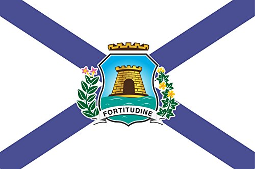 DIPLOMAT Flagge Fortaleza Ceara Brasil | Querformat Fahne | 0.06m² | 20x30cm für Flags Autofahnen