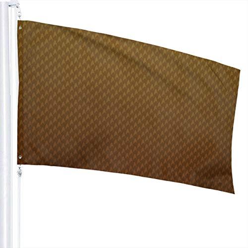 N/A Vintage Bruin Behang Vlag Premium Polyester Decoratie Vlag 5ft x 3ft