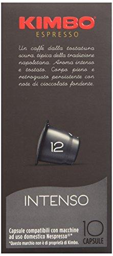 Kimbo Capsule Intenso Compatibili Nespresso - 12 Astucci da 10 Capsule (Totale 120 Capsule)