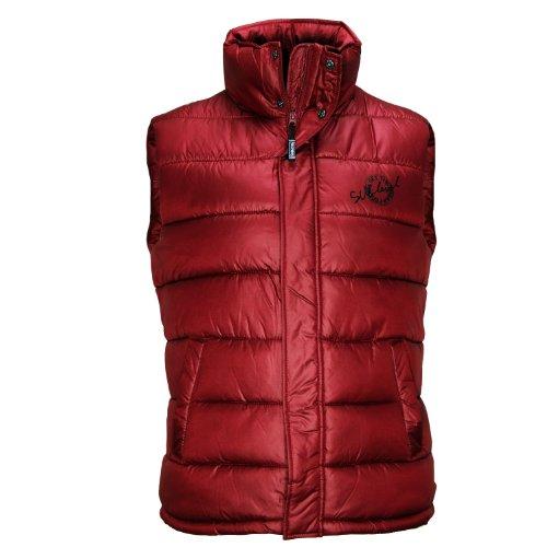 Sublevel Herren Weste Übergangsjacke gesteppt Slim Fit Middle red Gr.S/44