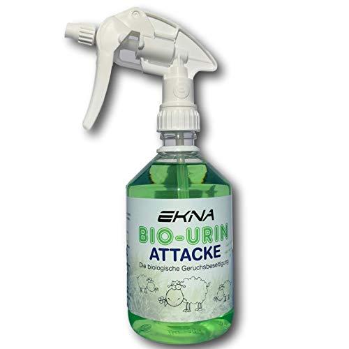 EKNA Bio-Urine Attack - La rimozione Biologica degli odori | Odour Remover per Gli odori Animali e l urina Animale | Selezione 500ml 1000ml | Made in Germany (500ml)