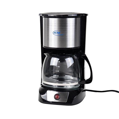 Elta Kaffeemaschine Edelstahl KME-1000.2 (1,5L, 800 Watt, permanenter Kaffeefilter, schwarz)