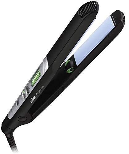 Braun - Satin Hair 7 ES2 Haarglätter , Glätteisen mit IONtec Technologie für glattere Haare, 15 Sek. Schnellaufheizzeit, Haare glätten mit 200°C max,1,8 m Kabel, 400 gr. leicht, schwarz