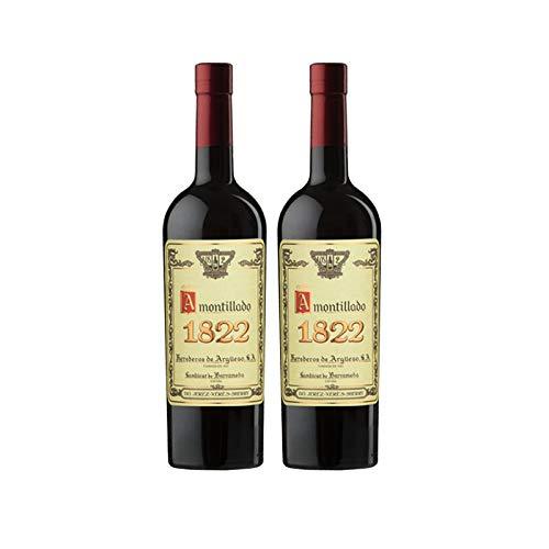 Vino Amontillado 1822 Solera Fundacional de 75 cl - D.O. Jerez-Sherry - Bodegas Argüeso (Pack de 2 botellas)
