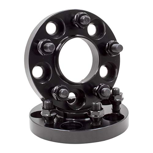 Wheel Accessories Parts Set of 2 Hub Centric Wheel Spacers Adapters 5x4.50 to 5x4.50 (5x114.3 to 5x114.3) with 60.1 Center Bore 20mm Thickness M12x1.5 Thread