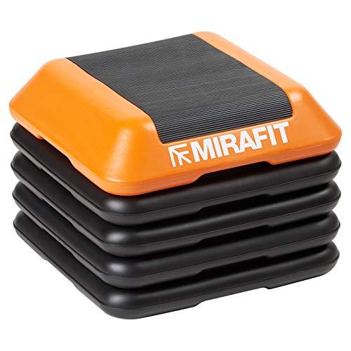 Mirafit Deluxe 40cm Adjustable Gym Stepper Board - Black/Orange Exercise Step