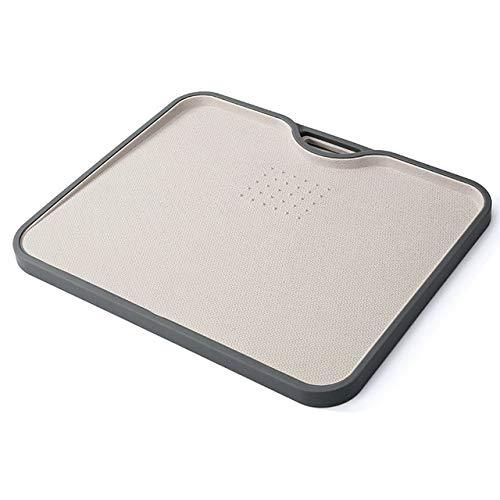 Fiesta Eco blé Paille Planche à découper rectangle Gourmet Planche à découper avec l'Outil de meulage Ail cuisson Ustensiles de Cuisine Accessoires beige