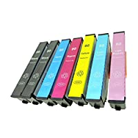EPSON IC6CL80L(BK2/C/M/Y/LC/LM) 【増量】リサイクルインク 7本セット 〈エプソン〉良質インクカートリッジ(再生品) 純正ICチップ(再生品)/残量表示/1年間保証付き (目印:とうもろこし) 〈Chip製〉(非純正品)