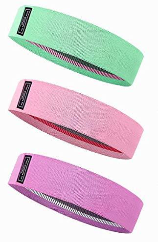 Cinturón de resistencia del yoga para los músculos de las caderas, muslos, caderas y ejercicios de las piernas, así como ejercicios caseros, yoga, pilates, para mujeres o hombres.(verde rosa morado).