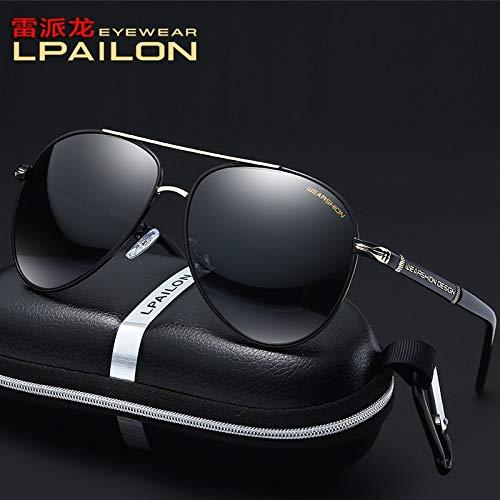 ZWH Neue Sonnenbrille Brille Männer Frauen polarisierte Sonnenbrille Autofahrer Fahren fuhr Jurte im Freien P8738 (Color : Black)