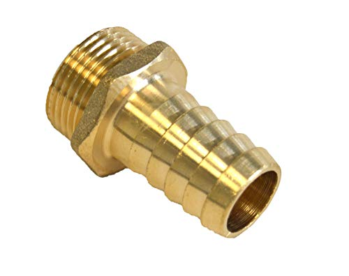 "S&M 453335 Conector-Entronque Macho de latón para Manguera 3/4"" x 19 mm"