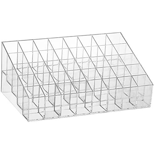 Soporte para pintalabios, 40 espacios, organizador transparente de brillo de labios y almacenamiento para cajón, soporte de...