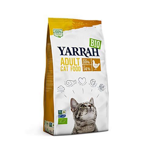 YARRAH Bio Katzenfutter trocken   Hochwertiges Premium Trockenfutter für Katzen   Hoher Nährstoffanteil   Futter für Katzen ab 12 Wochen mit Bio-Huhn, 2.4kg