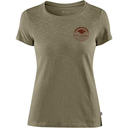 FJÄLLRÄVEN T-Shirt Forever Nature pour Femme L Vert Olive